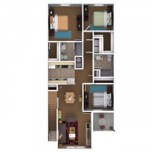 3 Bedroom Apartment Floor Plan