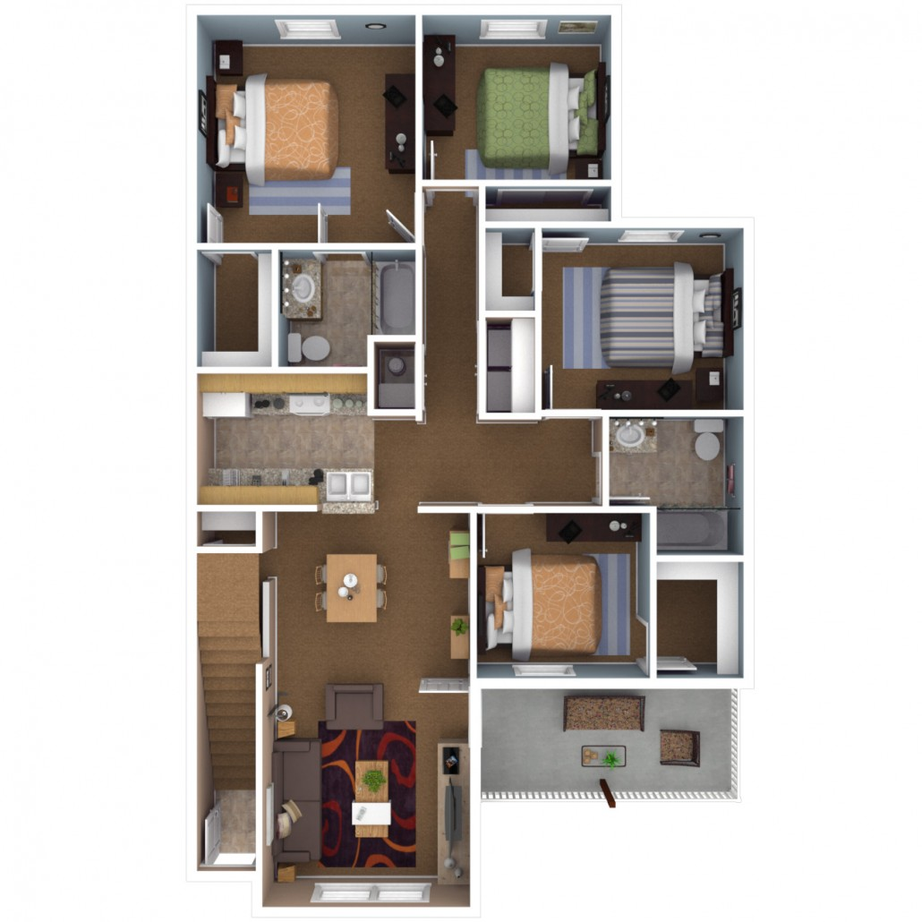 3 To 4 Bedroom Apartments Near Me: Apartments In Indianapolis